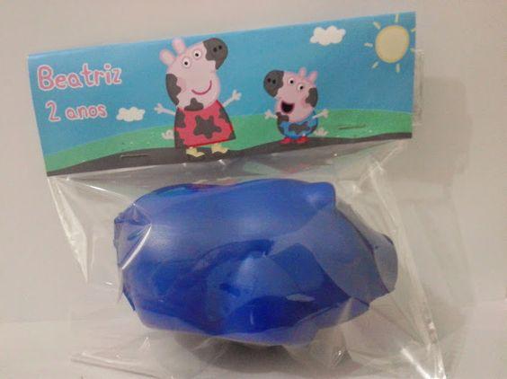 Cofrinho Porquinho- Peppa Pig <br>Linda lembrancinha para festa da Peppa Pig <br>Mínimo: 10 unidades (cores variadas) <br>* Impressão a Laser *