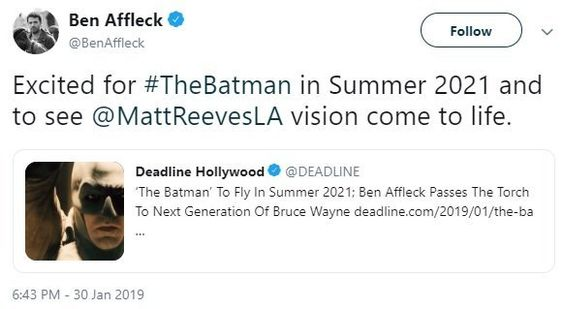 Ben Affleck: The Batman