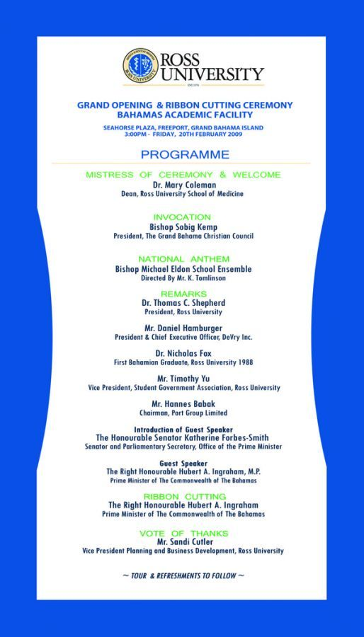Ribbon Cutting Ceremony Program Template  Program For The Ribbon