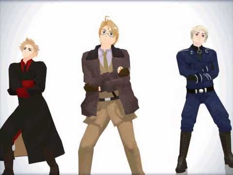 [MMD APH] The Awesome Trio- Gentleman - YouTube