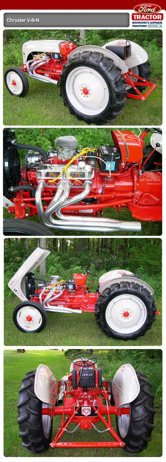 V8 Antique Tractors : Ford tractor mopar v engine i want to drive it