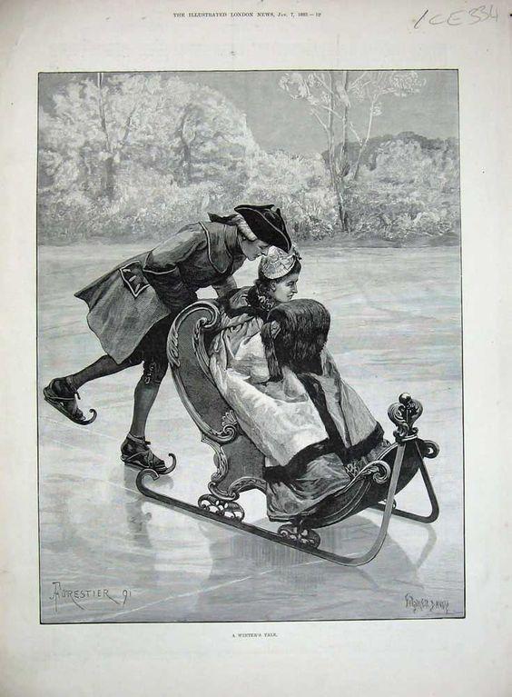 Ice Skating - The  Illustrated London News - January 7, 1891