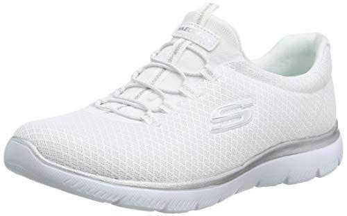 Skechers Damen 12980 Sneaker, Weiß (WhiteSilver), 39 EU