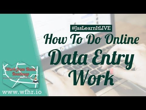 How To Do Data Entry Work As A Freelancer Live Jaslearnit 019 Youtube Online Data Entry Online Data Entry Jobs Data Entry Jobs