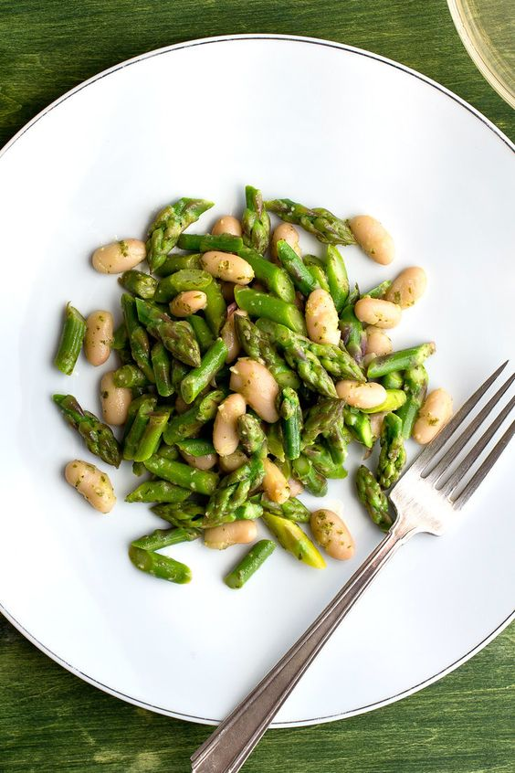 and Asparagus Salad with Tarragon-Lemon Dressing | Recipe | Asparagus ...