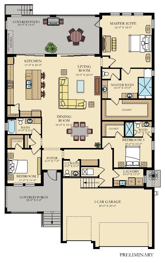Captiva New Home Plan In Southshore Yacht Club Melrose Cove By Lennar New House Plans House Map House Plans