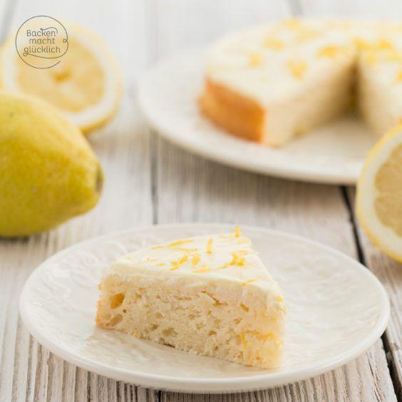Fettarmer Zitronenkuchen Ohne Zucker In 2020 Zitronen Kuchen Zitronenkuchen Brotkuchen