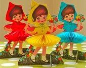 Vintage Stand Up Dolls