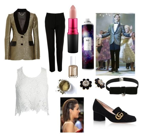"""""""Corny Collins inspired gender swap"""" by mrslexluthorloki on Polyvore featuring Marc Jacobs, Dolce&Gabbana, Gucci, Sans Souci, Kate Spade, R+Co, Essie and MAC Cosmetics"""