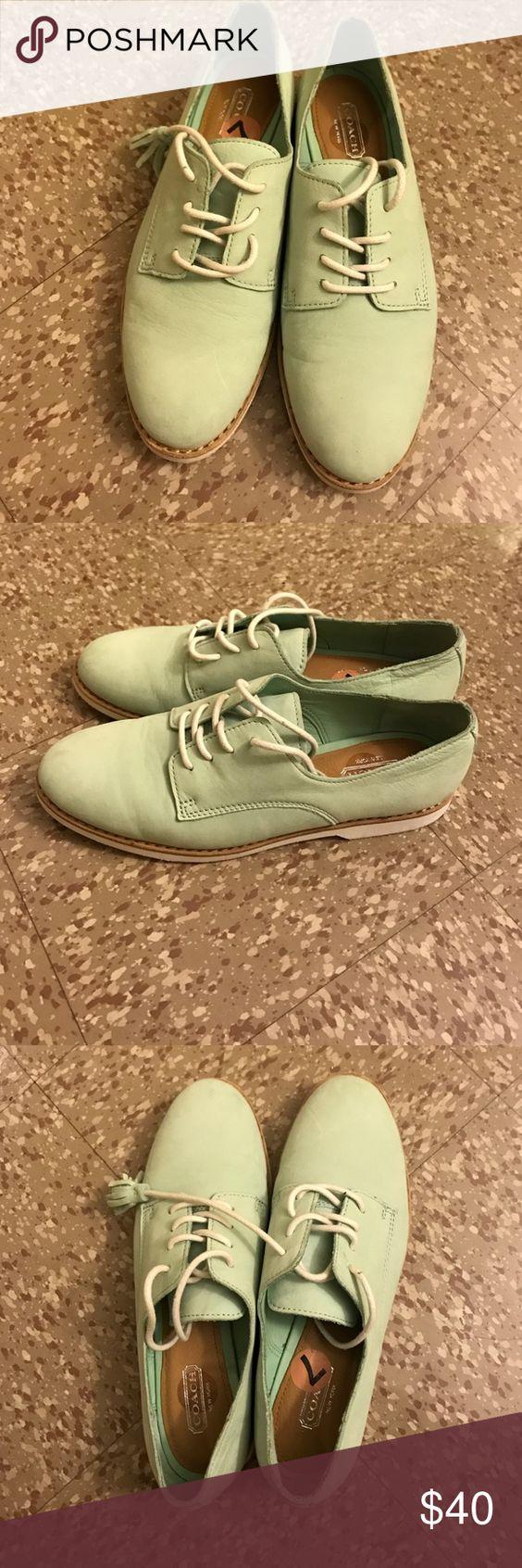 coach plats blue coach flats Coach Shoes Flats & Loafers