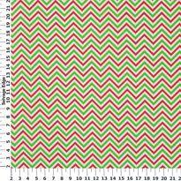 Christmas Basics - Christmas Red and Green Chevron Cotton Fabric
