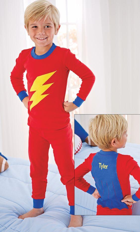 From CWDkids: Personalized Long John Pajamas. | Footed pajamas ...