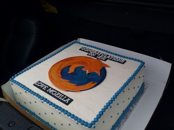 Mozilla sent a cake to the folks at IE on launching IE10.