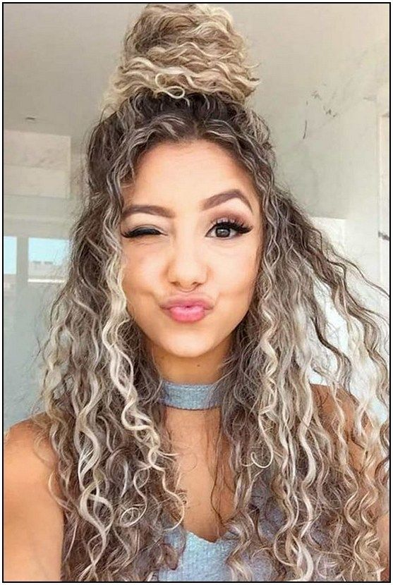 48 Cute Easy Hairstyle For Any Hair Length Page 51 Armaweb07 Com Curly Hair Styles Naturally Hairdos For Curly Hair Curly Girl Hairstyles