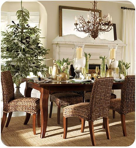 Decorating dining rooms for christmas mood board natural for Ideas for decorating dining room table for christmas