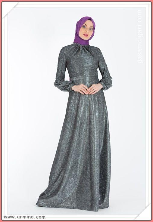 Armine Tesettur Abiye Modelleri 2019 Lookbook Elbise Modelleri Elbise Elbiseler