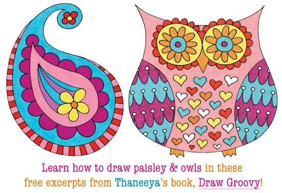 Draw Groovy: A Book of Fun Easy Step-by-Step Drawing Lessons by Thaneeya McArdle