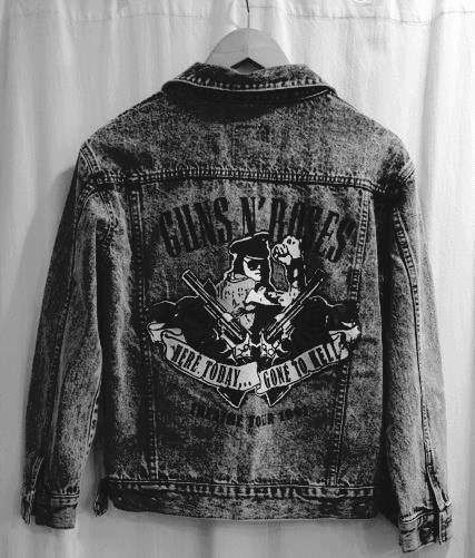Guns and Roses jean jacket