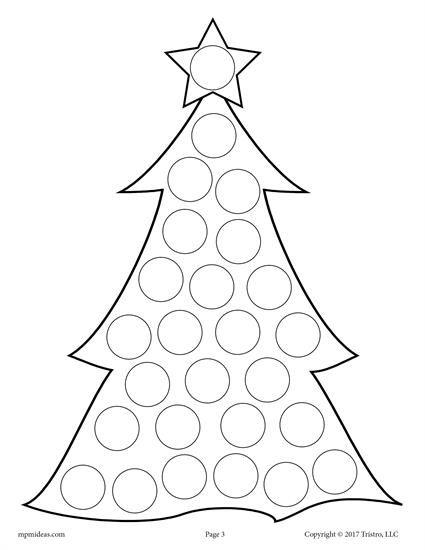 10 Christmas Do A Dot Printables Preschool Christmas Winter Crafts Winter Crafts For Kids