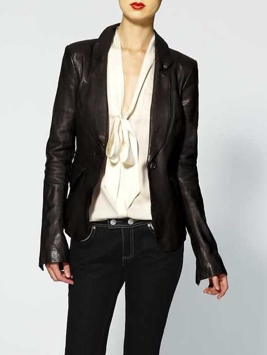 Piperlime   Daphne Fitted Leather Jacket.  Love!!