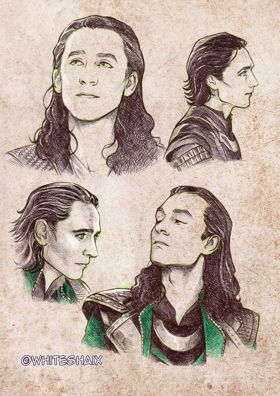 Great Loki sketches on Deviantart - Visit now to grab yourself a super hero shirt today at 40% off!