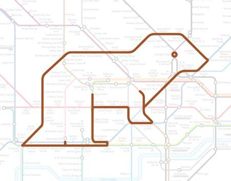 Des animaux avec le métro de Londres animal plan metro londres 6 divers carte information