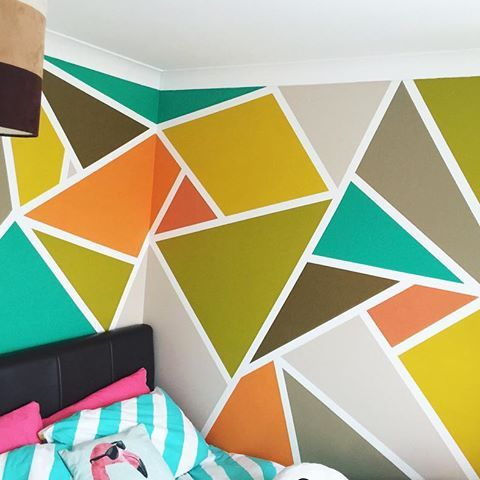 Seems fitting to have our first Bespoke Wall Designed room as our first insta post! #paintinganddecorating #creativedecorating #painting #creative #mural #wallart #walldecor #wallpainting #roominspiration #interiorart #muralart #abstract #abstractpainting #geometricart #contemporarydesign #interiordesign #contemporaryinteriors