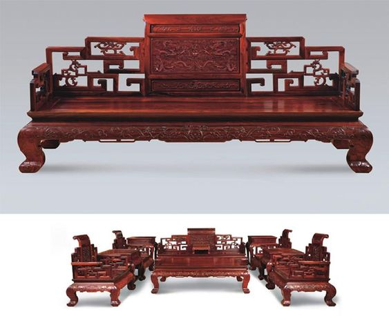 Traditional dark and chairs on pinterest for Chinese furniture traditional