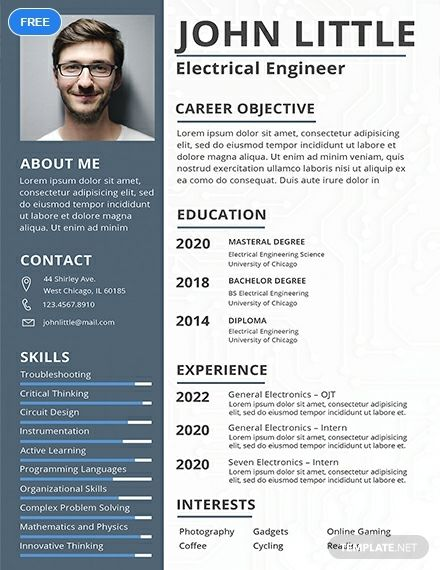 Free Electrical Engineer Fresher Resume Cv Template Word Doc Psd Apple Mac Pages Publisher Engineering Resume Templates Job Resume Template Resume Design Free
