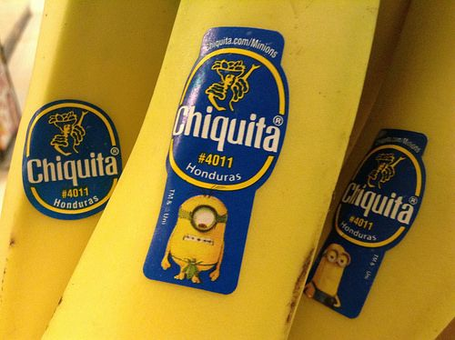 nice Chiquita Bananas Minions Movie Stickers, 6/2015, by Mike Mozart of TheToyChannel and JeepersMedia on YouTube #Chiquita #Bananas #Minions #Movie