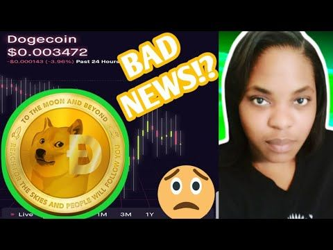 Dogecoins Cryptocurrency Bad News Dogecoin To The Moon Dogecoin Cryptocurrency Robinhood App Youtube Robinhood App Cryptocurrency Bad News