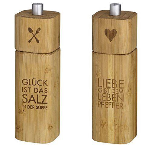 Salzmühle GLÜCK und Pfeffermühle LIEBE Bambus Räder Design Räder http://www.amazon.de/dp/B00M97OYS6/ref=cm_sw_r_pi_dp_c3JPvb1P262JY