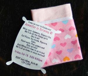 slumber party invitations! by angela