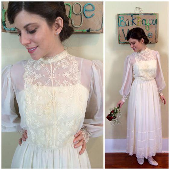 Vestido de novia eduardiano de encaje, 98 $