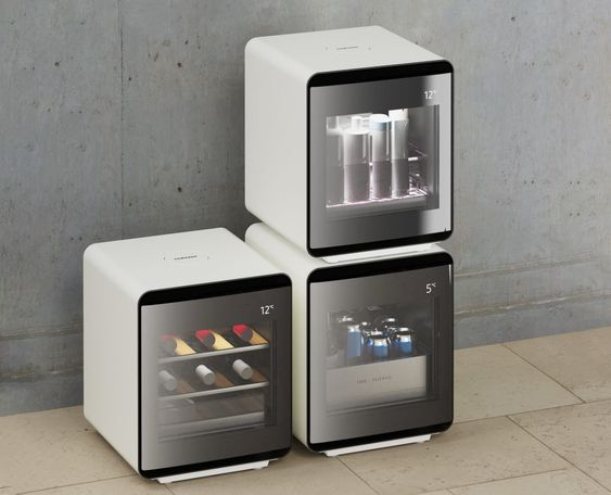 Samsung's Cube Refrigerator allows you to build your own modular cold-storage | Yanko Design