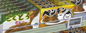 Packages of Mawaru Penguindrum Curry (looks like the real stuff, minus the penguin logo)