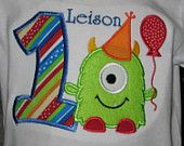 Boys personalized birthday monster t-shirt $20