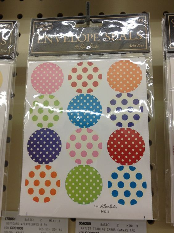 Envelope seals- perfect size for covering a small chip board circle! Hobby Lobby $2.00