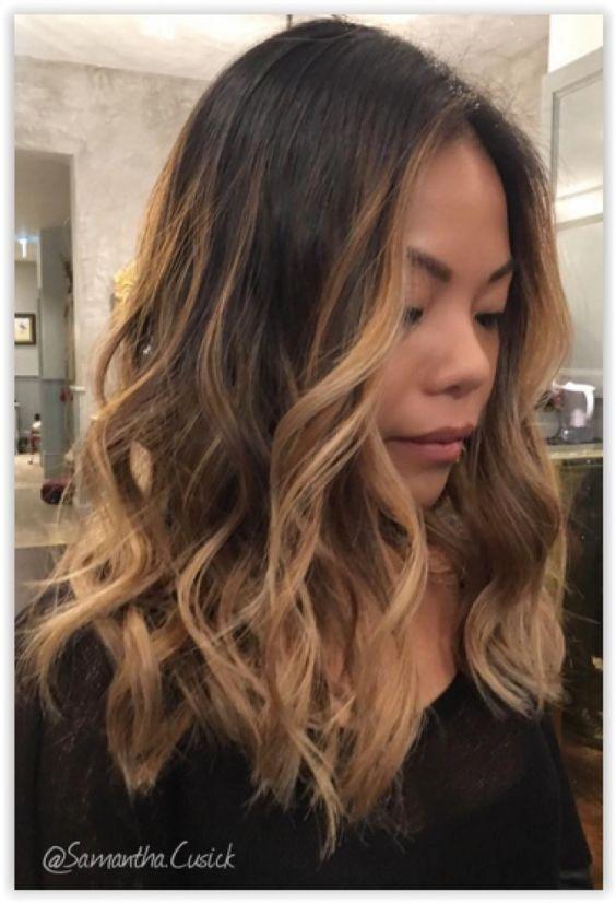 Ombre Hair et Mèches miel : 20 Modèles Impressionnants   Coiffure simple et facile
