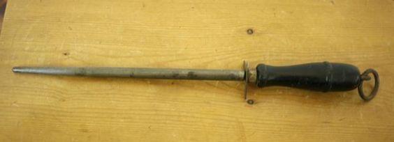 Vintage R.H. Forschner Co Made in USA Wood Handle Kitchen Knife Sharpening Steel #Forschner
