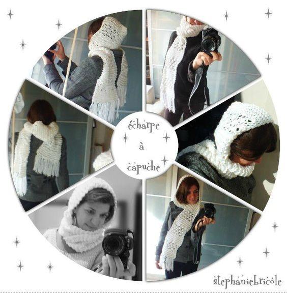 Tuto tricoter une charpe capuche au point d astrakan - Quel point pour tricoter une echarpe ...