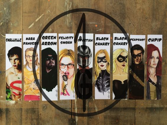 some of my artworks, on bookmarks formats. They are inspired by the DC COMICS TV universe ( The CW) Arrow ( Green Arrow, Oliver Queen, Stephen Amell, Felicity Smoak,Emily Bett Rickards, David Ramsey Spartan, John Diggle, Black Canary, Laurel Lance, Katie Cassidy, Deadshot, Cupid) SMALLVILLE ( Clark Kent, Superman, Tom Welling) SUPERGIRL ( Kara Danvers, Melissa Benoist)