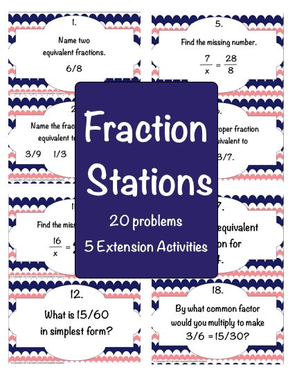 Fraction Stations | Fractions, Equivalent fractions and Numbers