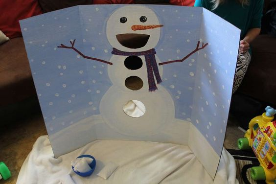 Fun snowman activity at a Winter Onederland birthday party! See more party planning ideas at CatchMyParty.com!