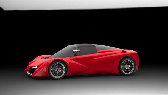 500 Group Supercar 2013 - STEP / IGES - 3D CAD model - GrabCAD