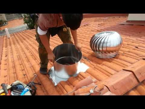 How I Fixed Our Noisy Roof Turbine Ventilator Youtube Ventilation Fan Turbine Installation