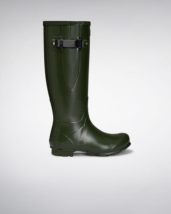 Womens Green Adjustable Rain Boots | Official US Hunter Boots