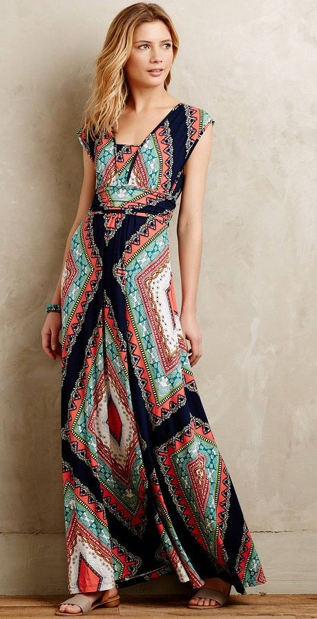 Robe longue boh me anthropologie robes jupes pinterest for Robes de style de mariage de plage