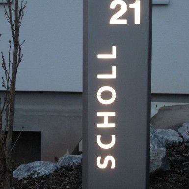 Cute LED Hausnummer aus Edelstahl house numbers Hausnummern Pinterest Number