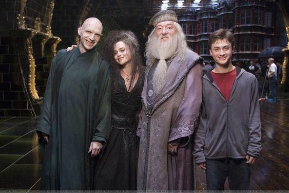 dumbledore, voldemort, bellatrix and harry